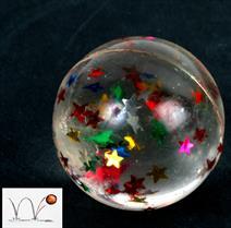 Balle rebond étoiles 30 mm