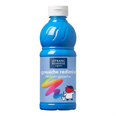 Gouache fluorescente  bleu