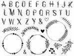 Stamp Alphabet & Couronnes