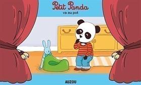 Petit panda va au pot.