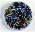 Perles tubes métallisées