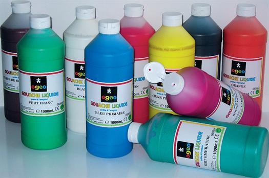 Gouache liquide Ogeo 1 litre assorties