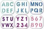 Pochoirs alphabet chiffres