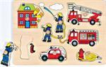 Puzzle à encastrements les pompiers