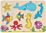 Puzzle à encastrements le monde sous-marin