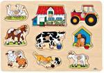 Puzzle à encastrements à la ferme