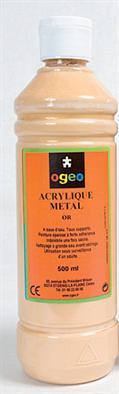 Peinture acrylique or Ogeo