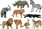 Les animaux sauvages - série 1
